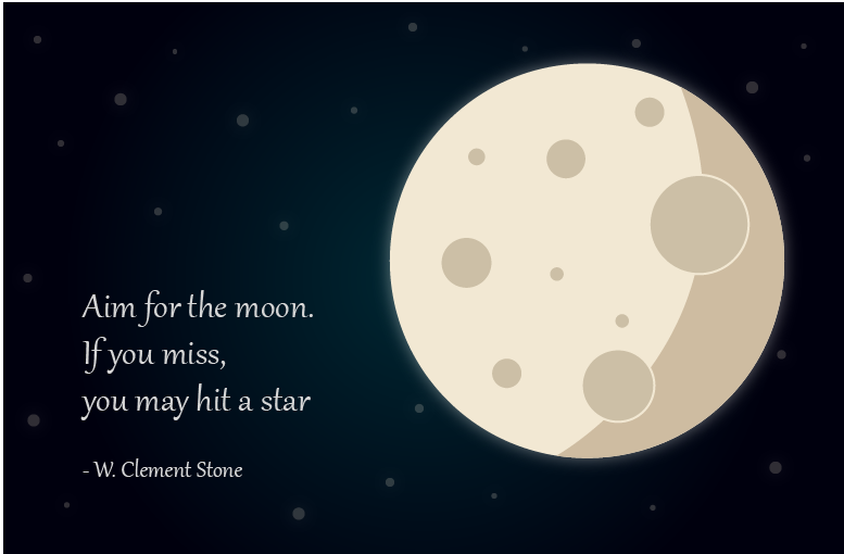 graphical quote about the moon